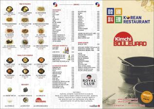 Kimchi Boulevard menu1