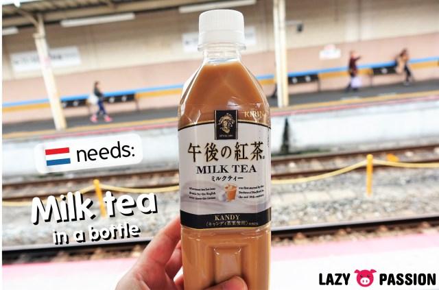 milk tea in a bottle