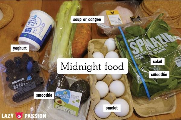 Midnight fasting food