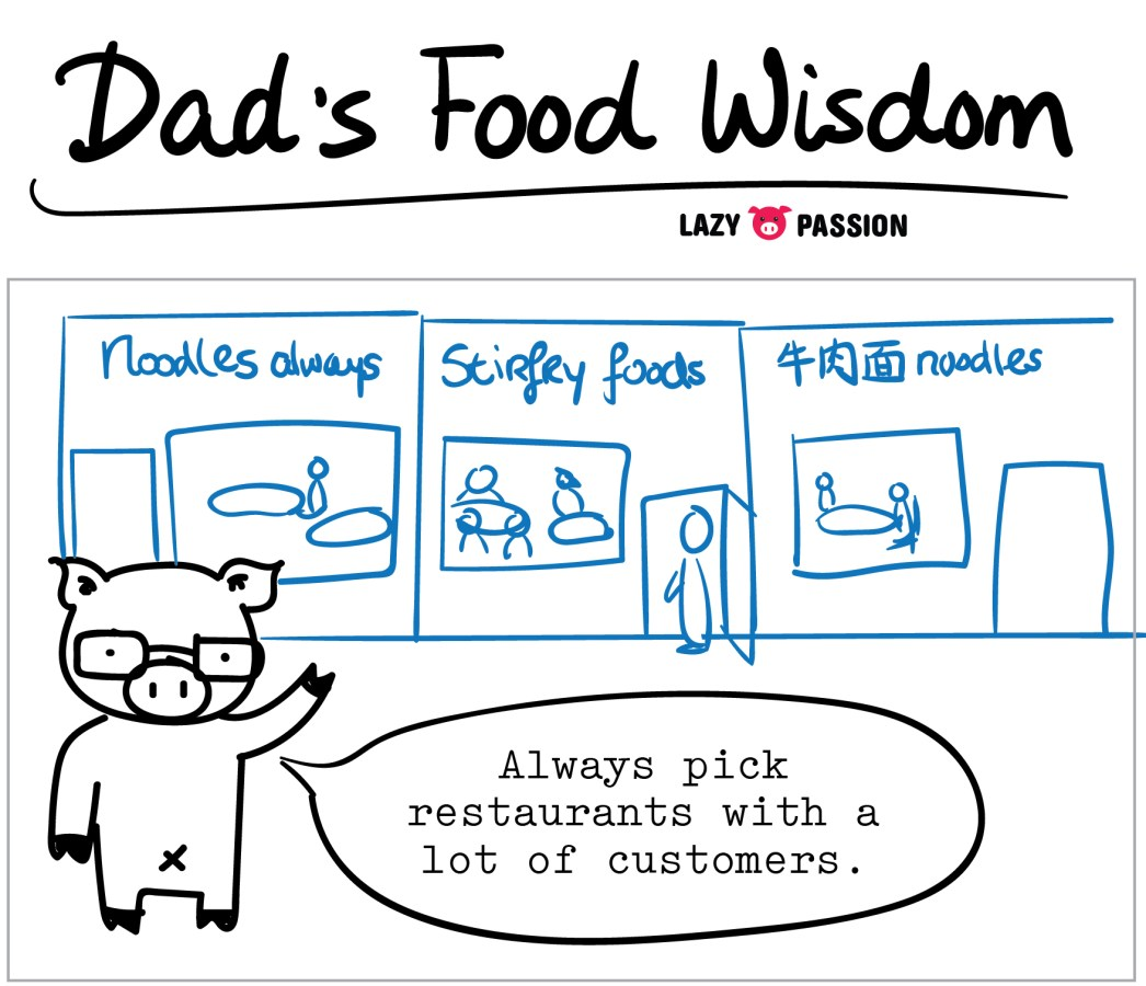 Dad picking restaurant