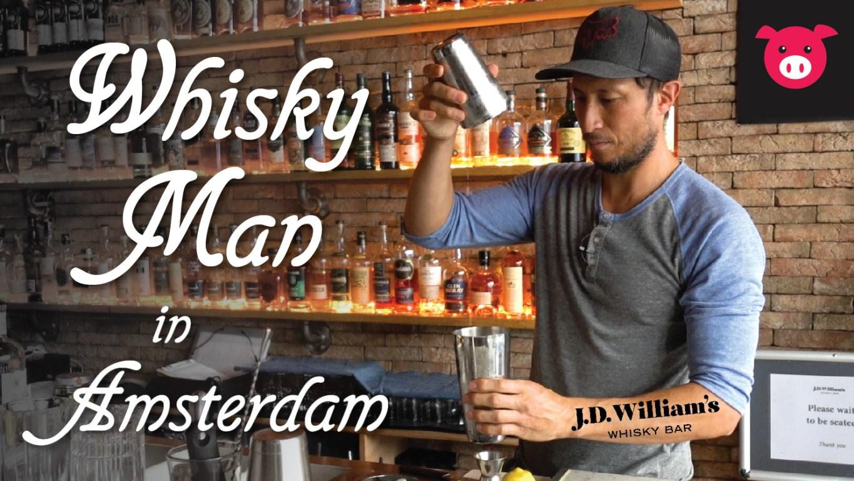 Whisky man in Amsterdam J.D. William's Daniel Watts