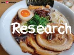 research ramen