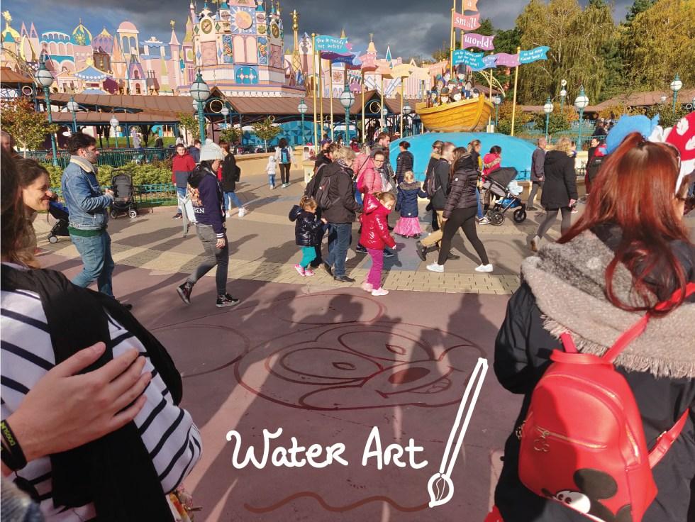 Disneyland Paris water art paint ground floor