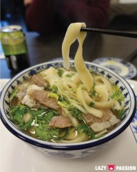 Yellow River Noodles beef soup knife cut noodles