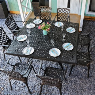 grande table de jardin carree le blog