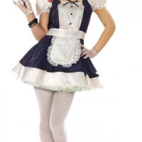 It's so nice for Stephanie not to be dressed in pink... but she wonders if this french maid outfit will turn Sportacus on?