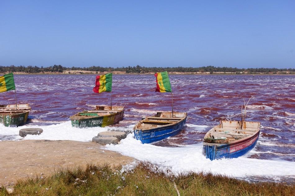 Senegal - Lac Rose - różowe jezioro
