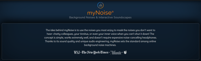 Tools to improve concentration - Mynoise