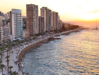 Beirut Corniche and the enchanting view