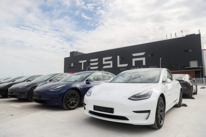 Tesla Model 3 vehicles   Xinhua/Ding Ting via Getty Images