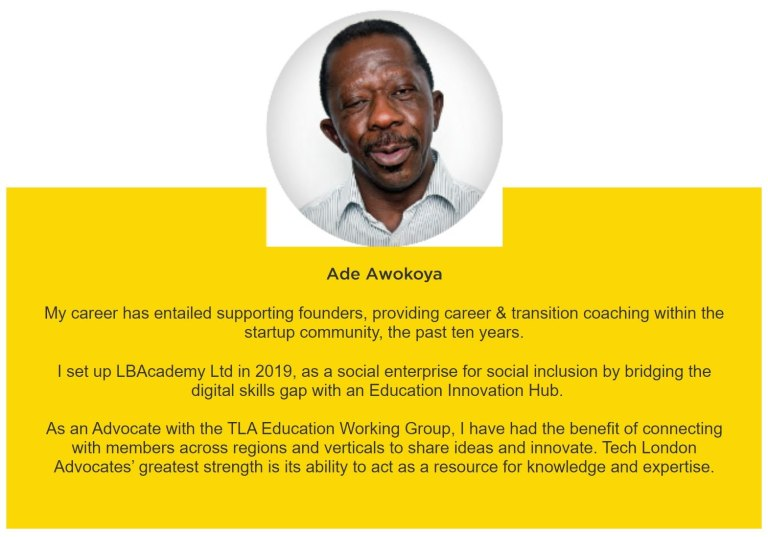 Ade Awokoya Life Coaching supports founders with digital skills