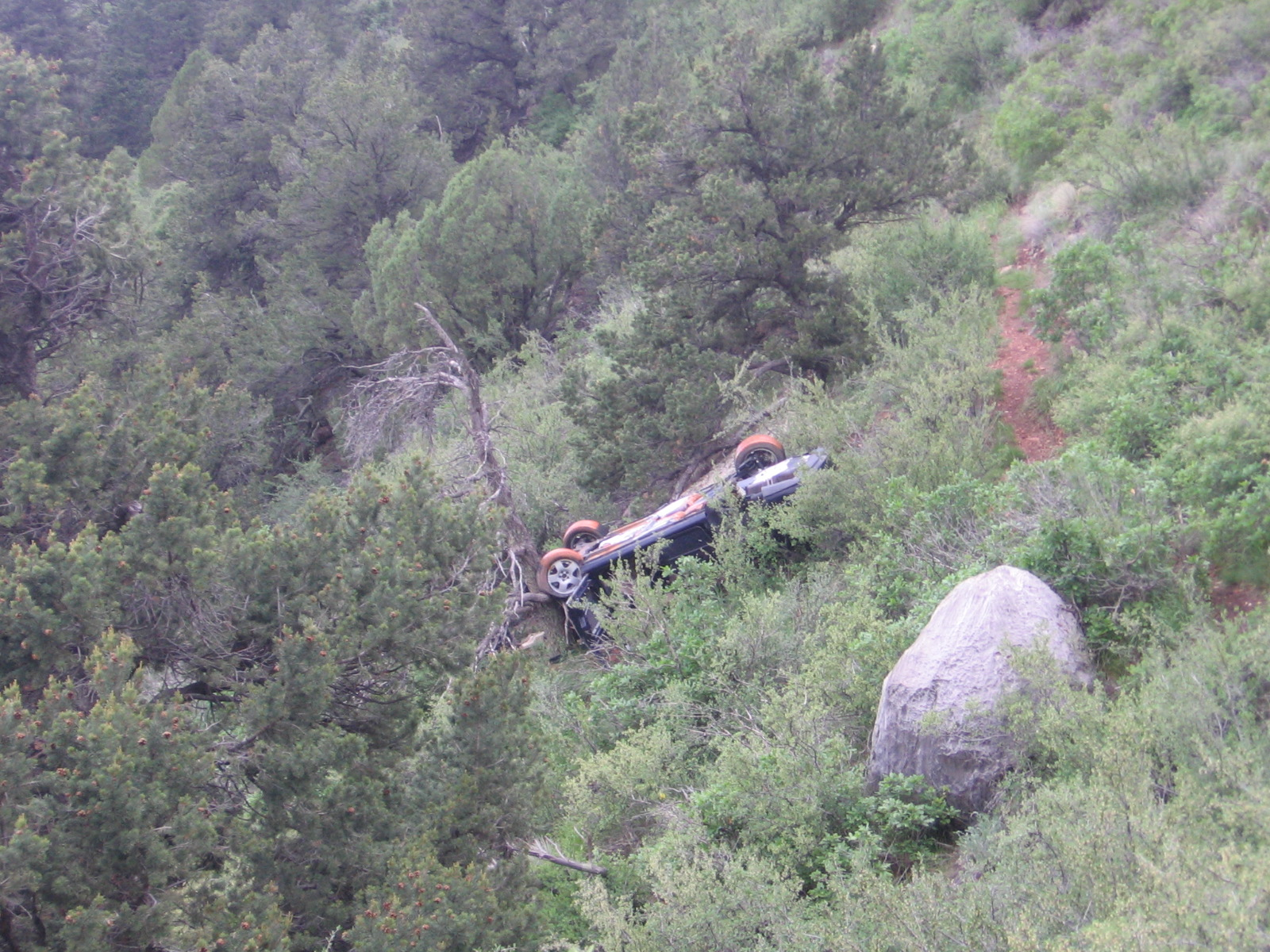 Car Crash in Queen's Canyon