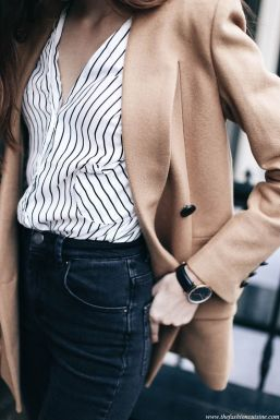 A simple pinstripe shirt can be dressed up or down.