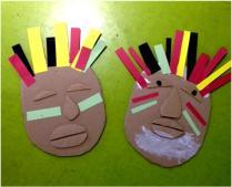 African Mask Making workshop at Shepherd's Bush Library