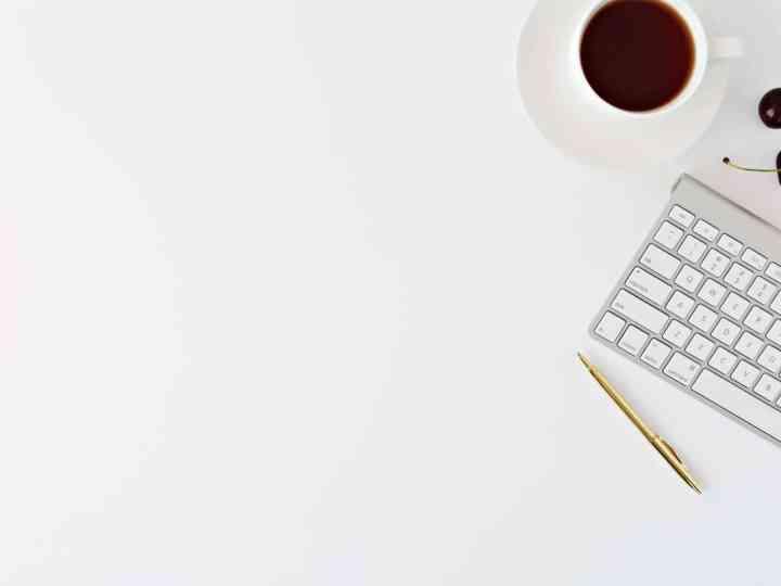 Café et clavier