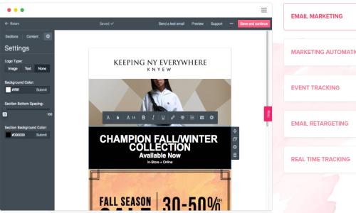 Sendlane email marketing services
