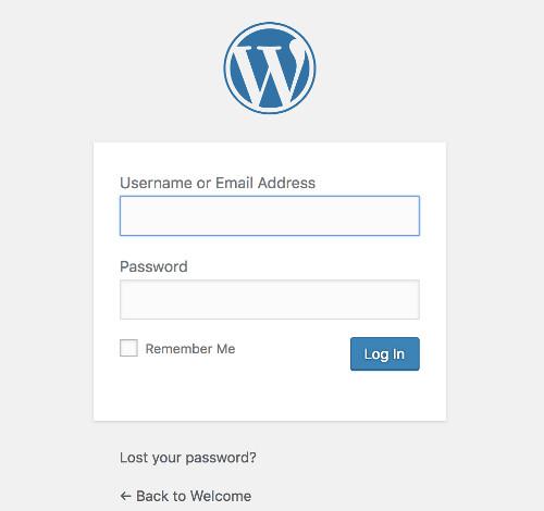 Your new WordPress dashboard