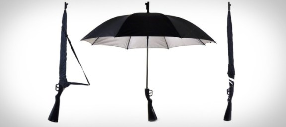 Gunbrella – The Coolest Riffle To Defend Your From Rain