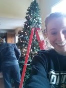Early in the decorating process we are all smiles as everything has gone as planned.