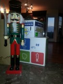 Every year our nutcracker is placed next to the fireplace as a decoration.