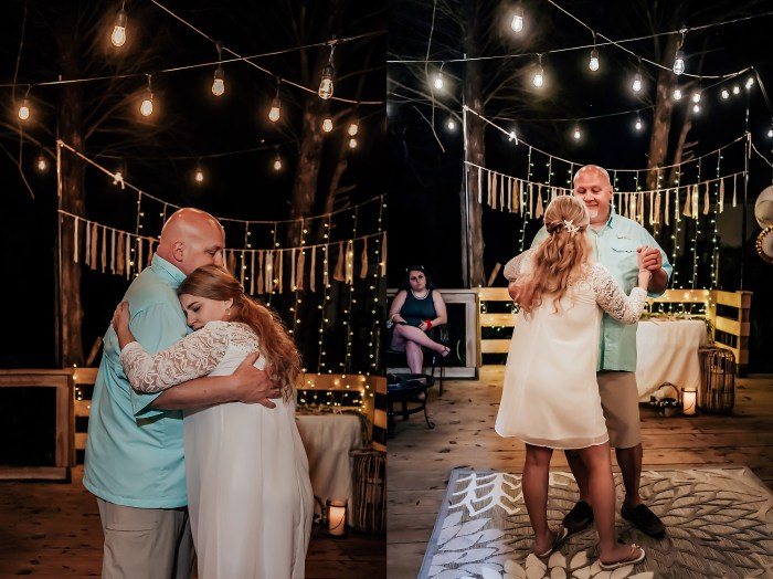 Wedding reception pictures after Honeymoon Island Wedding by Wedding photographer in Tampa
