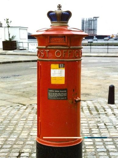 VR Liverpool Special pillar box, 1860s. Martin Robinson