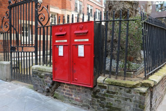 VR twin wall boxes, 1880s, London. Andrew R Young