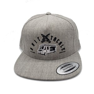 The Tackle Truck 5 Panel Hat - Grey