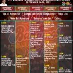 Bañamos 2011 Schedule