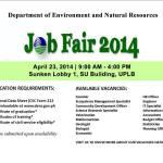 [Community Posts] DENR to hold Job Fair 2014 tomorrow at UPLB SU Sunken Lobby