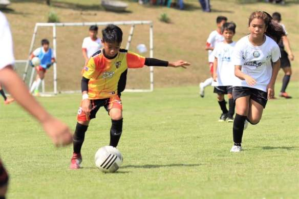Get that Goal. Miguel Rebugio playing for Team Aguila LB in the First Southern Football Cup last May 26, 2019. Photo taken by Dr. Christine DL Pahud