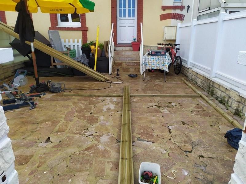 réalisations terrasse en bois-calepinage