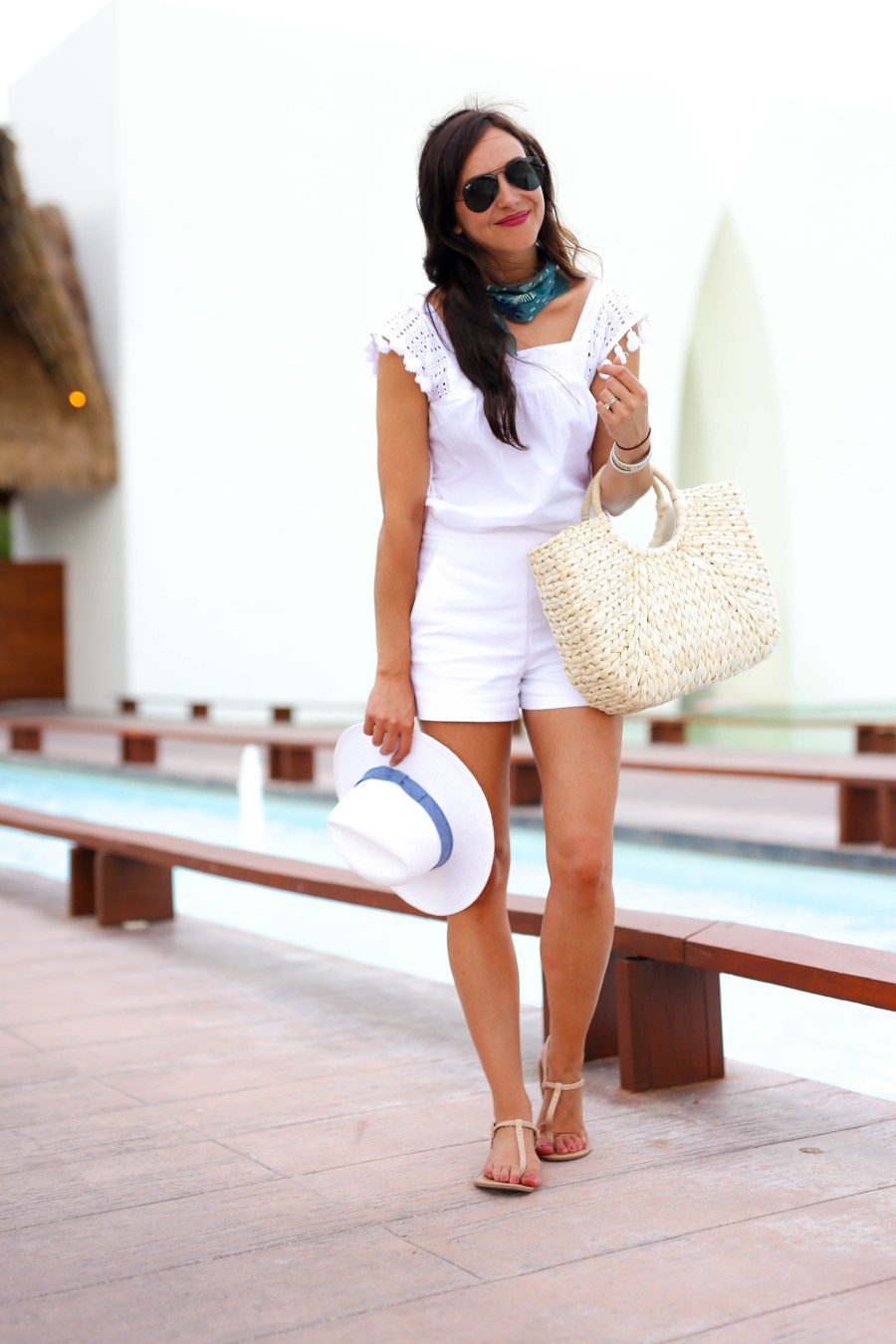 white-high-waisted-shorts