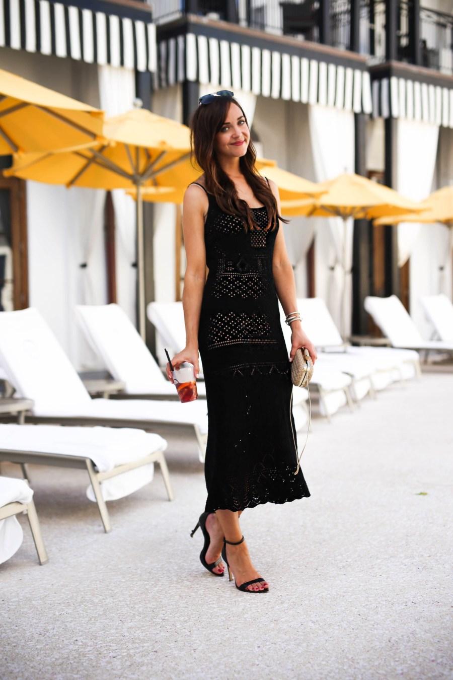 little black dress // rosemary beach // black and white hotel