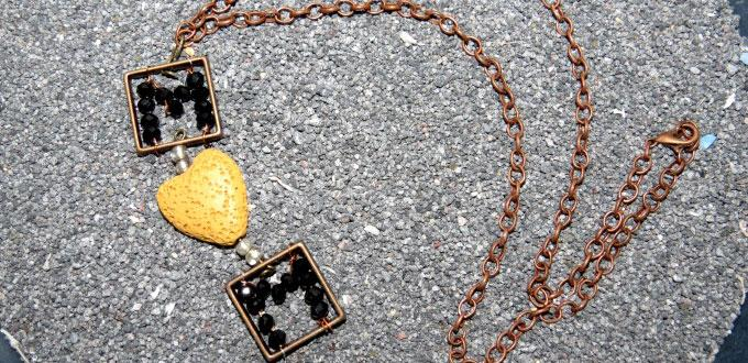 Bead and Chain Jewelry - How to DIY a I love MOM Necklace