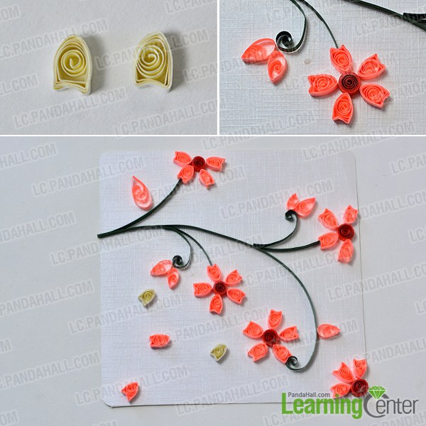 How To Make Lifelike Paper Quilling Plum Flowers Cards