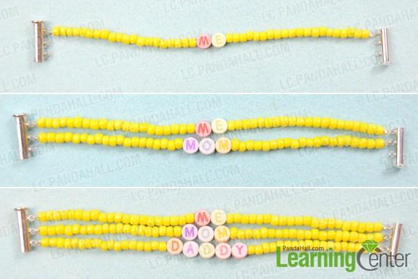 Make the rest multi strand beaded bracelet pattern