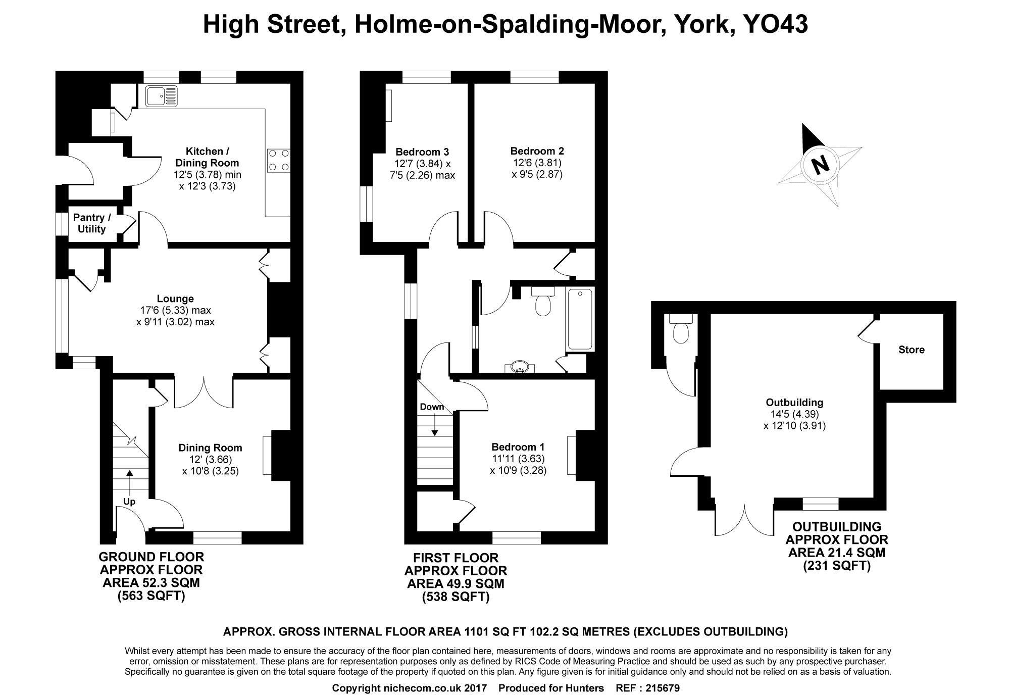 High Street Holme On Spalding Moor York Yo43 3 Bedroom