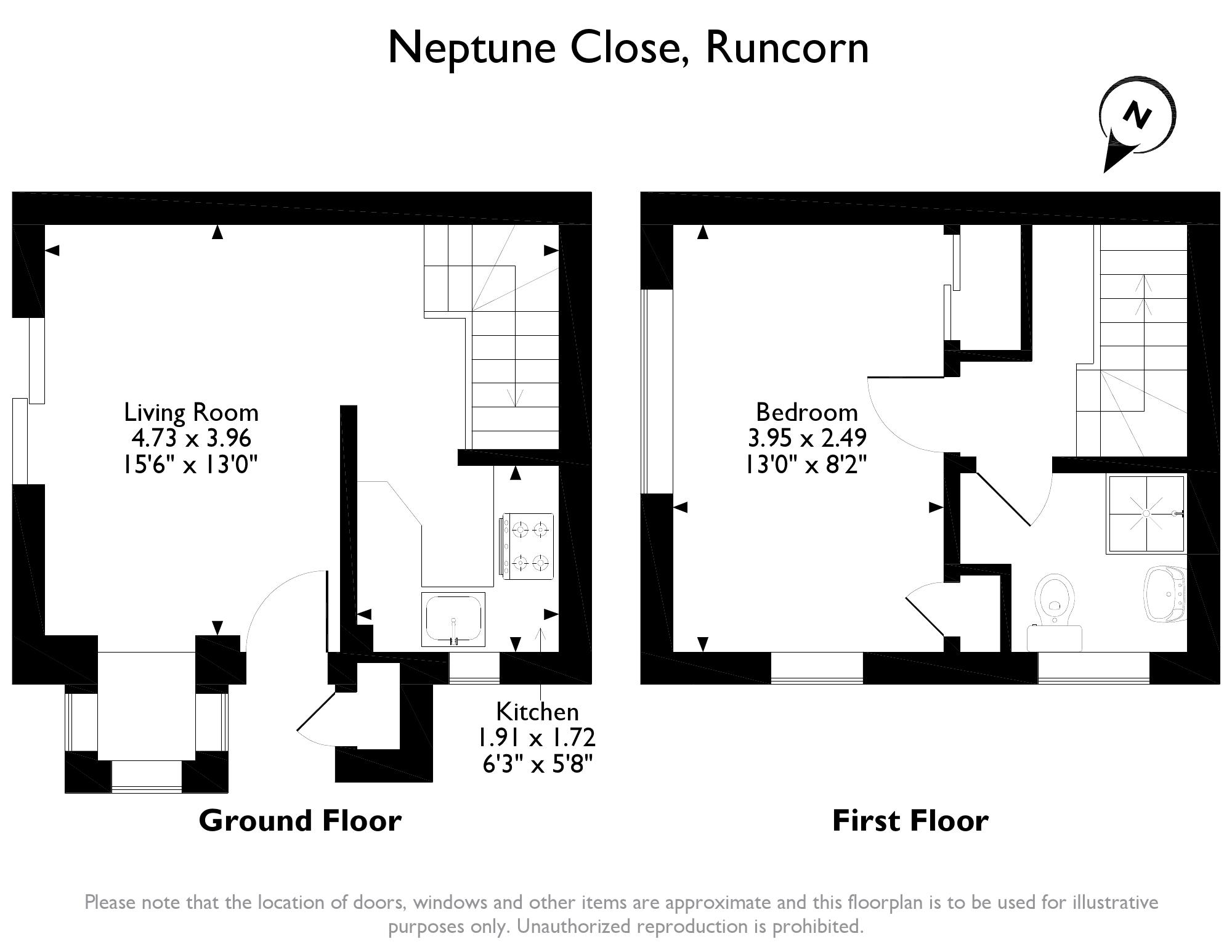 Neptune Close Runcorn Wa7 1 Bedroom Semi Detached House