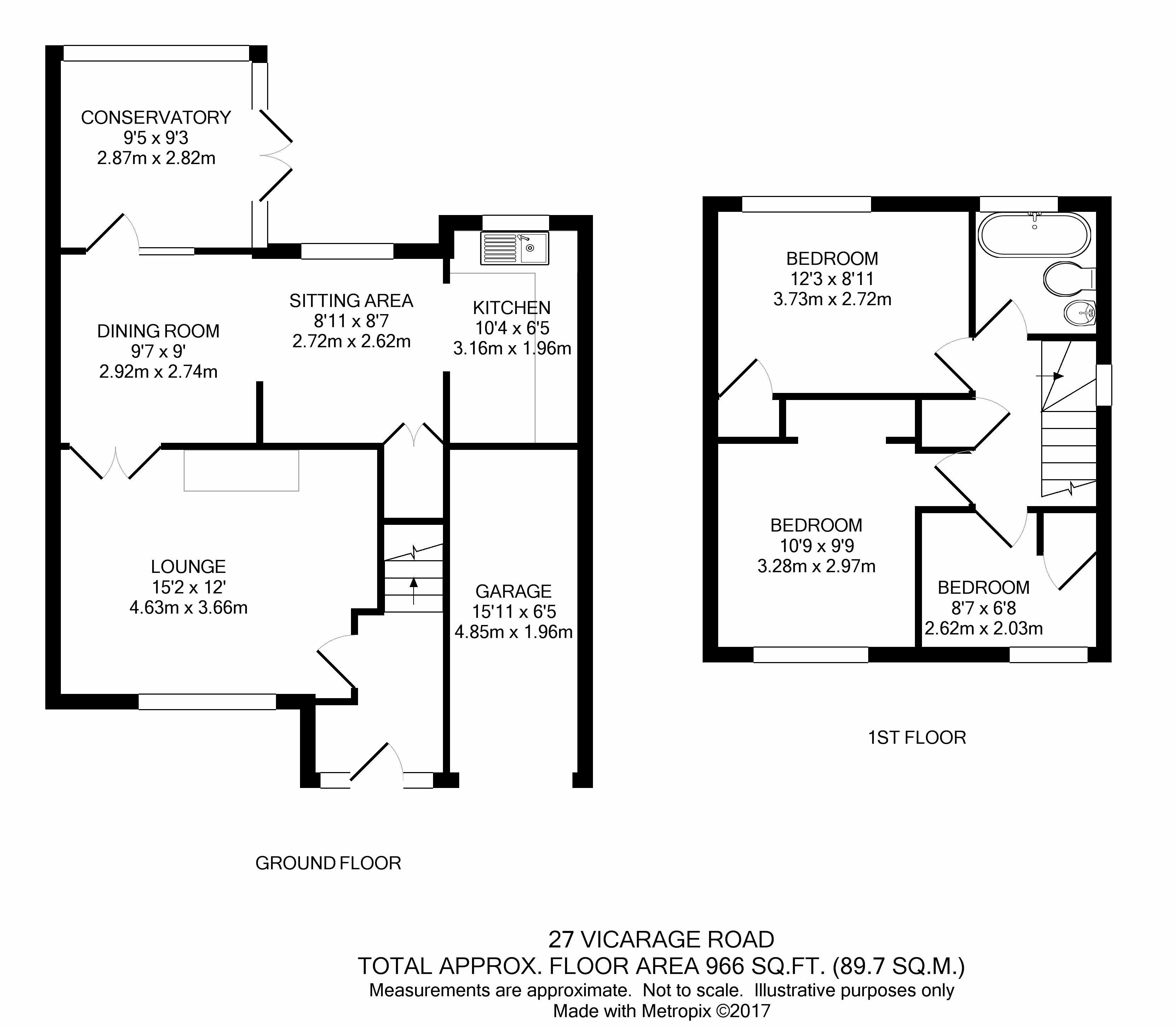 Vicarage Road Penn Wolverhampton Wv4 3 Bedroom Semi