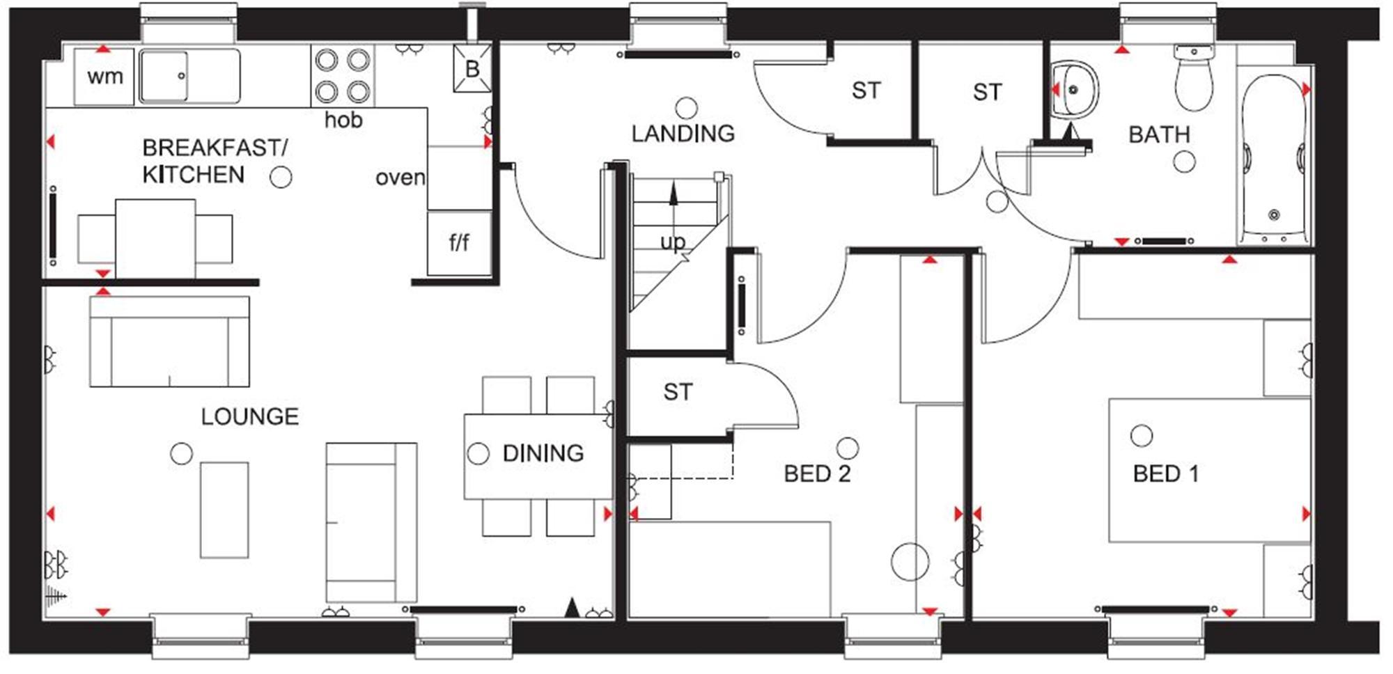 Barratt Homes Rochester Floor Plan