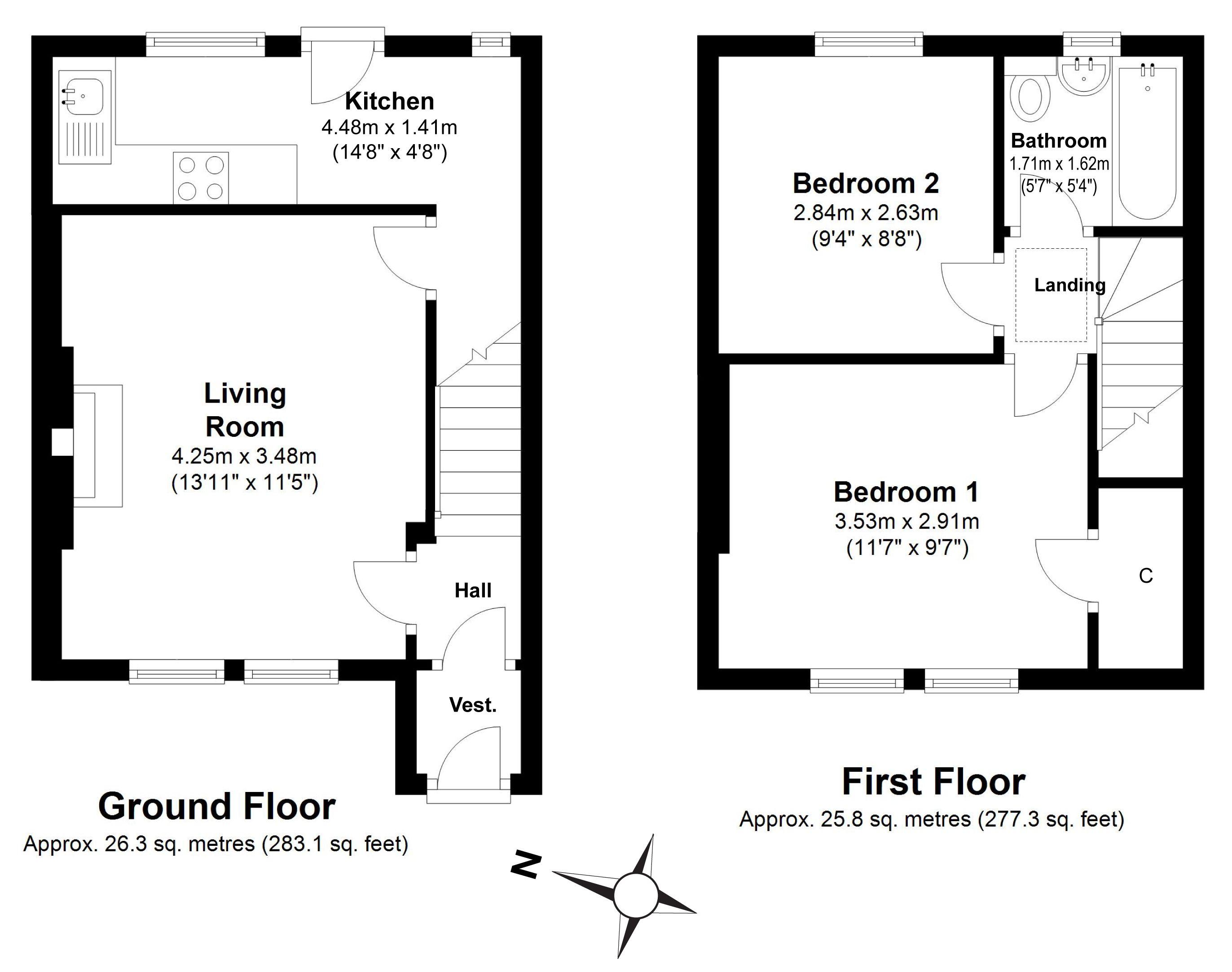 13 Longstone Avenue Edinburgh Eh14 2 Bedroom Terraced