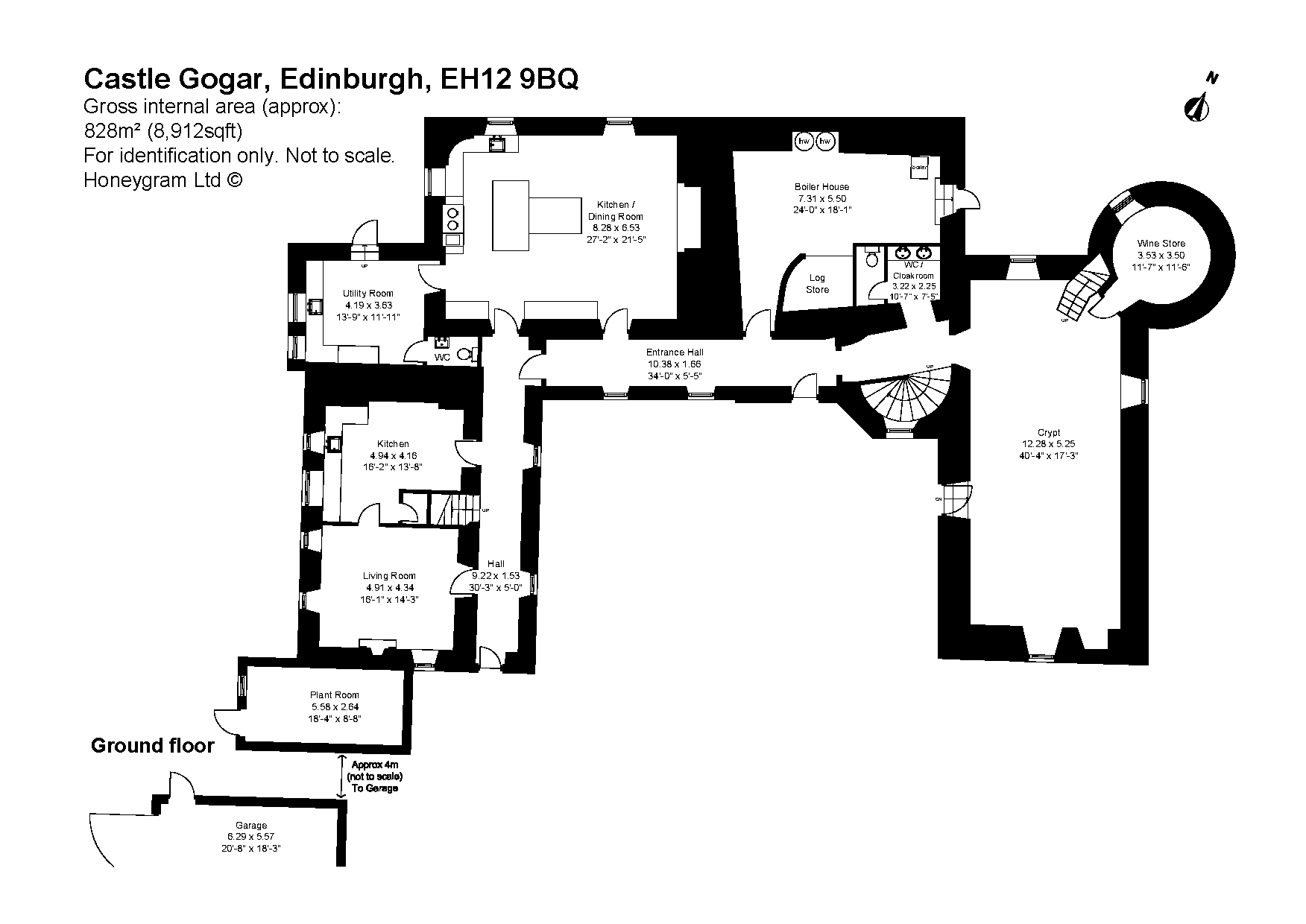 Castle Gogar Edinburgh Eh12 7 Bedroom Detached House For