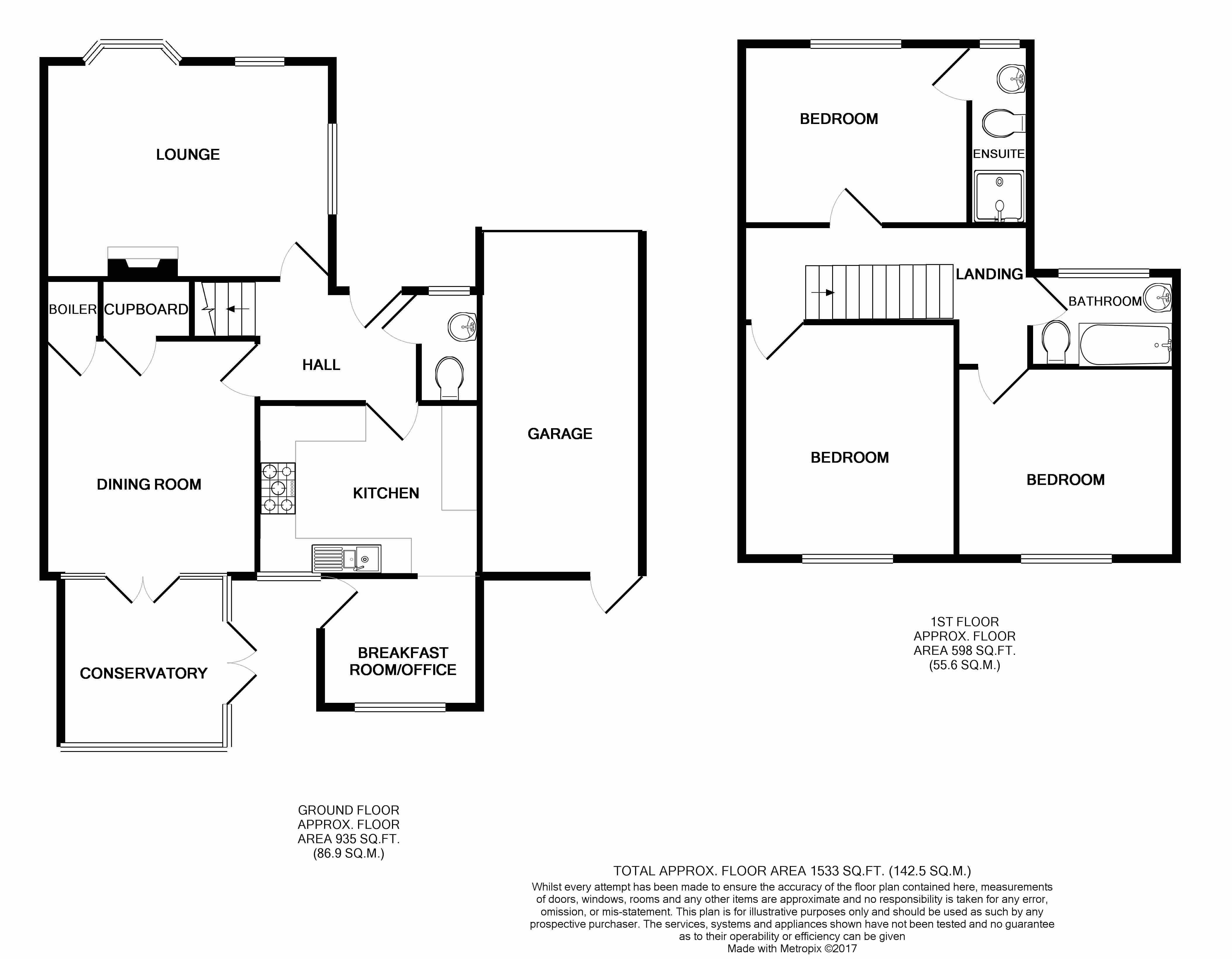 Beechpark Way Watford Wd17 3 Bedroom Link Detached House For Sale