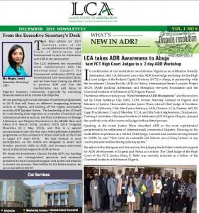 LCA Newsletter -December 2015