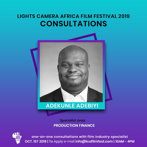 Lights Camera Africa Filmmaker Consultation Adekunle Adebiyi