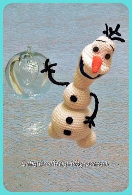 Crochet Olaf Doll - http://lalkacrochetka.blogspot.com/2015/12/snowman-olaf-bawanek-olaf.html