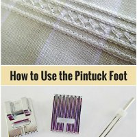 Sewing Tip - How to use the Pintuck Presser Foot!
