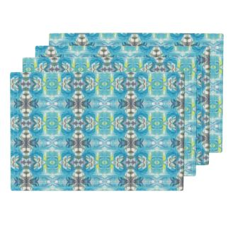 Lamona-Cloth Placemats (Set of 4) -https://www.roostery.com/p/lamona-cloth-placemats/5632615-turquoise-slate-maze-by-lacartera