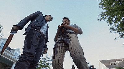 The Walking Dead - Heart Still Beating 7 8 - negan guts evicerates spencer
